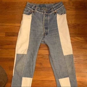 Re/Done X Levi's Patchwork Jeans